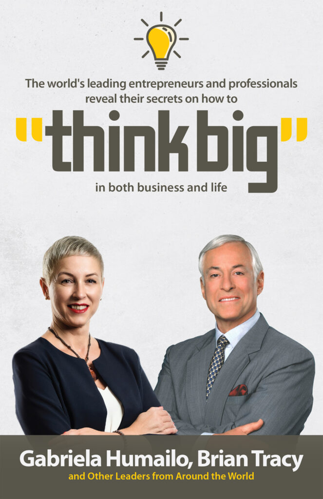 "Image of the book ""Think Big"" with Gabriela Humailo, Mindset Coach"