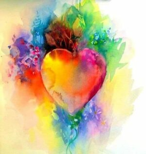 Image of a colorful heart